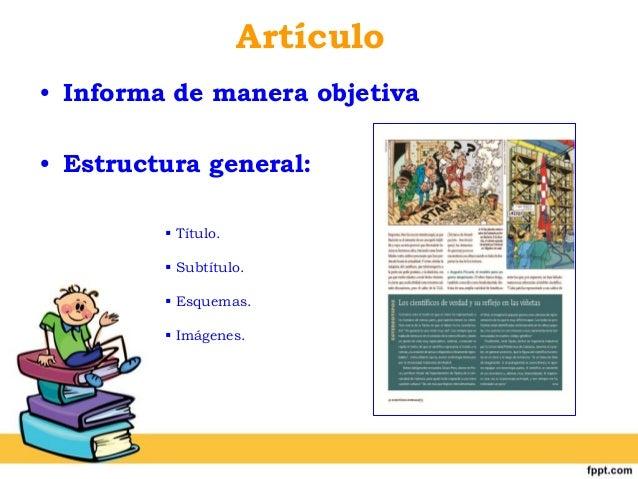 Power Point Estructura De Los Textos No Literarios