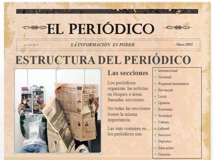 Estructura del peri dico for Estructura de un periodico mural