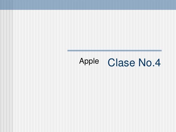 Clase No.4 Apple