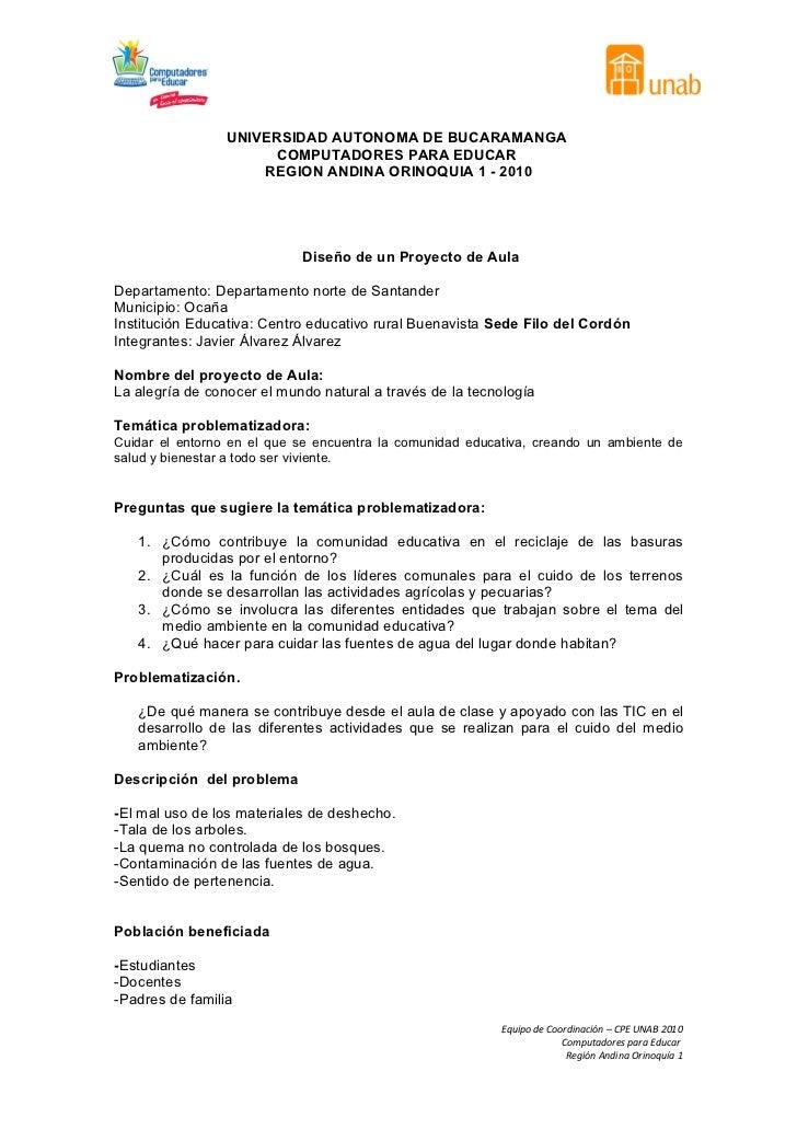 UNIVERSIDAD AUTONOMA DE BUCARAMANGA                       COMPUTADORES PARA EDUCAR                     REGION ANDINA ORINO...