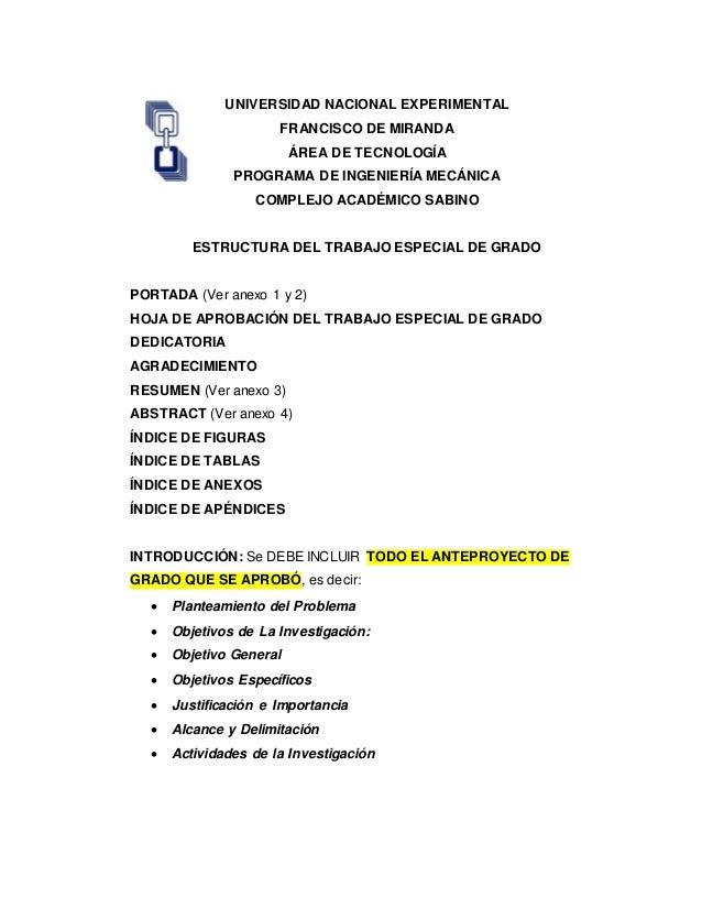 UNIVERSIDAD NACIONAL EXPERIMENTAL FRANCISCO DE MIRANDA ÁREA DE TECNOLOGÍA PROGRAMA DE INGENIERÍA MECÁNICA COMPLEJO ACADÉMI...