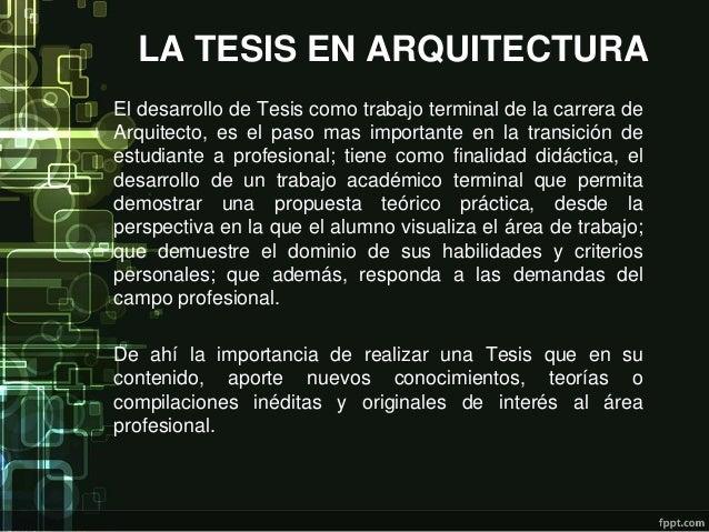 Estructura de una tesis en arquitectura for En que consiste la arquitectura