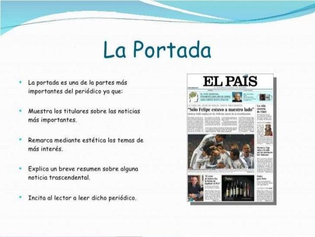 Estructura de un diario for Estructura del periodico mural
