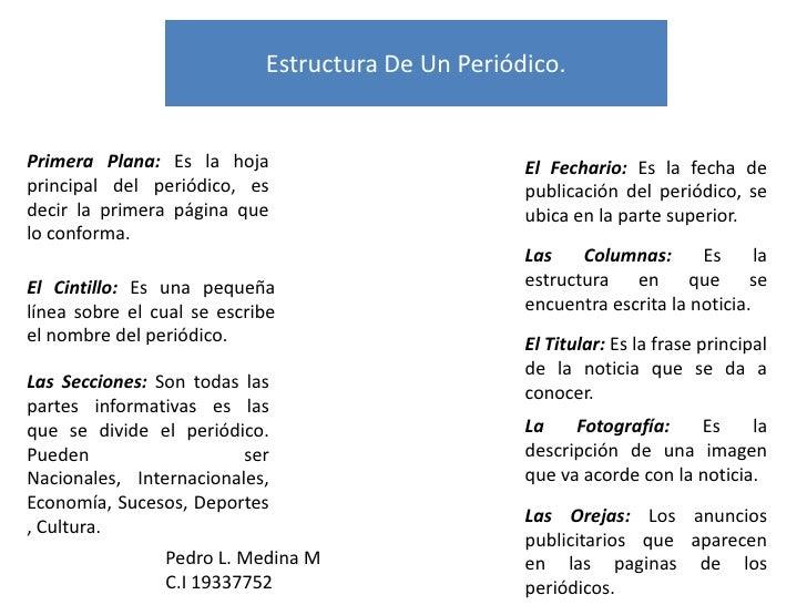Estructura De Un Periodico