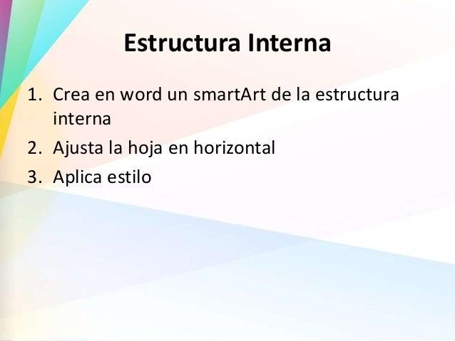 Estructura Externa Y Estructura Interna