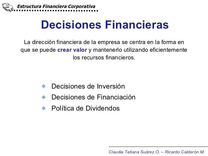 Estructura Financiera Corporativa Jul 2011