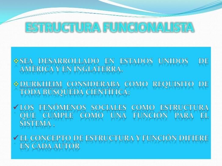 Estructura Funcionalista 1