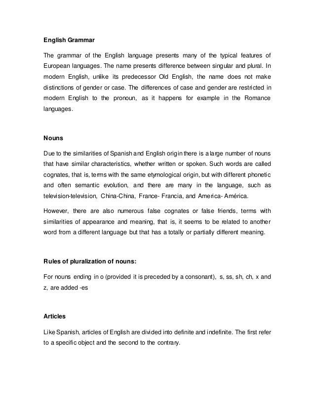 Estructura Gramatical