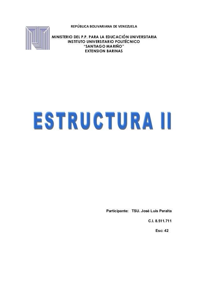 REPÚBLICA BOLIVARIANA DE VENEZUELA MINISTERIO DEL P.P. PARA LA EDUCACIÓN UNIVERSITARIA INSTITUTO UNIVERSITARIO POLITÉCNICO...