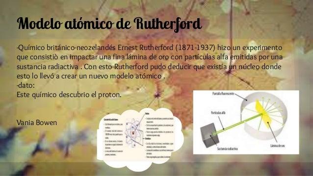 Modelo atómico de Rutherford -Químico británico-neozelandés Ernest Rutherford (1871-1937) hizo un experimento que consisti...