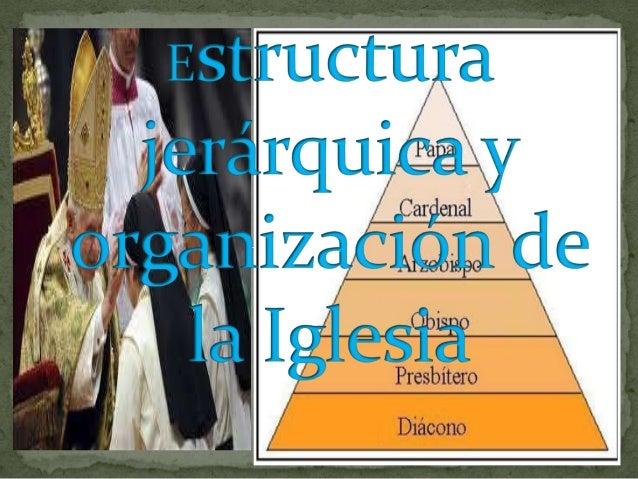 Estructura Jerárquica Y Organización De La Iglesia