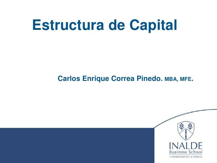 Estructura Optima De Capital