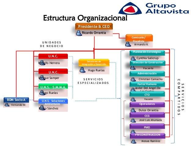 Estructura Organizacional                                      Presidente & CEO                                       Rica...