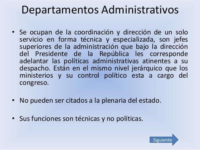 Estructura organizacional de la rama ejecutiva for Que es una oficina publica