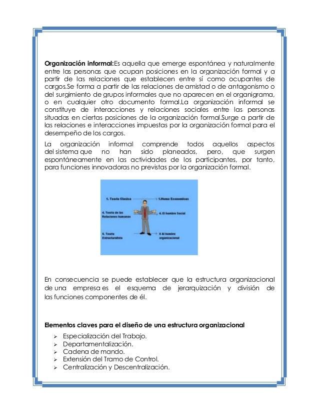 estructura organizacional de una empresa