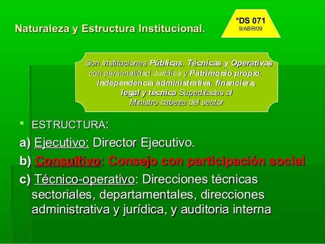 Estructura Organizativa Del Organo Ejecutivo Del Estado