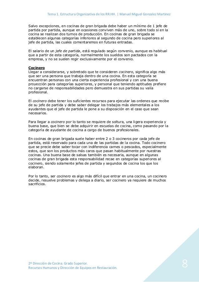 Estructura organizativa de los rr hh en empresas de - Trabajo de jefe de cocina ...
