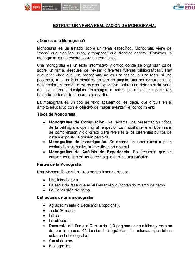 Estructura Para Realización De Monografía 1 2 1