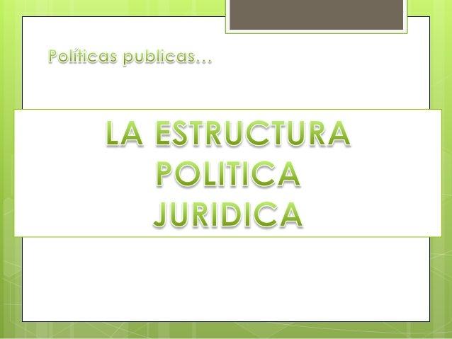 Estructura Político Jurídica Institucional