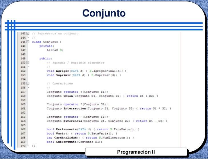 Conjunto      Programación II