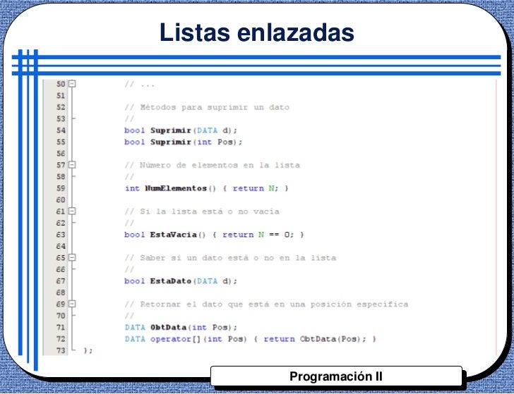 Listas enlazadas          Programación II