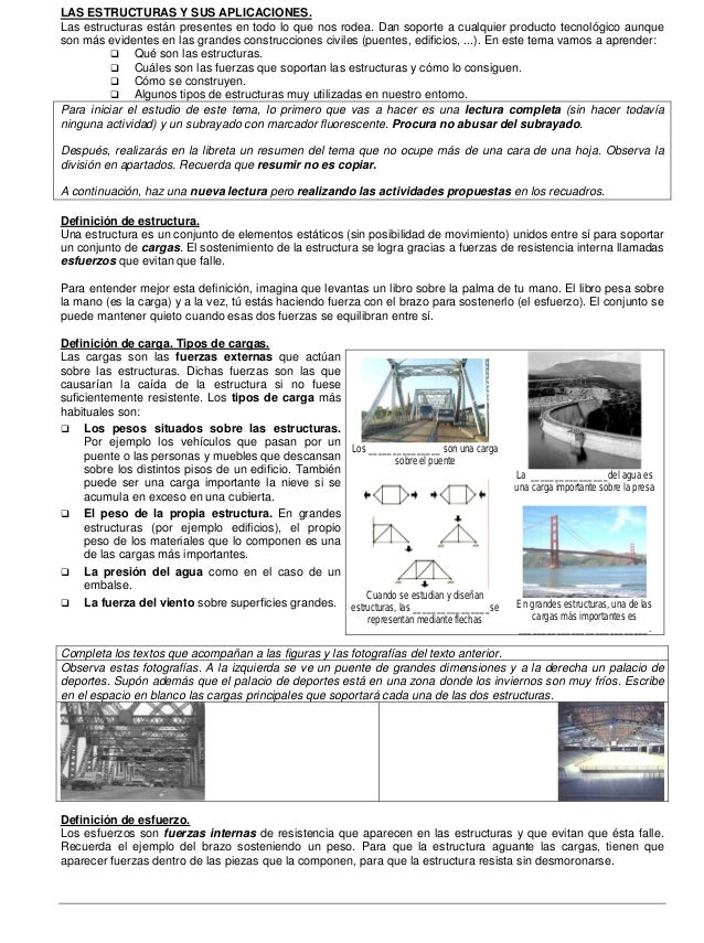 Las estructuras y sus aplicaciones – 2º ESO (1)  I.E.S. RÍO NORA Dpto. de Tecnología  LAS ESTRUCTURAS Y SUS APLICACIONES. ...