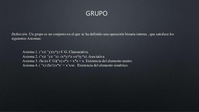 Grupos Subgrupos Anillo Y Cuerpo Estructuras Algebraicas