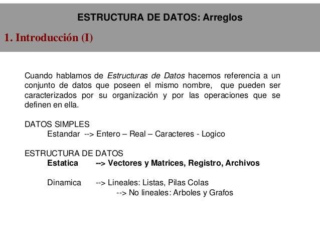 Estructuras De Datos Arreglos