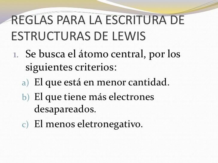 Estructuras De Lewis Para Compuestos