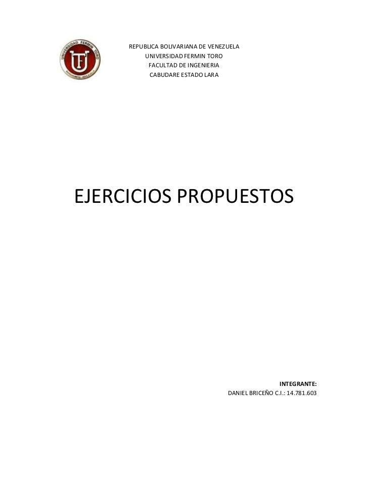108496-155516REPUBLICA BOLIVARIANA DE VENEZUELA<br />UNIVERSIDAD FERMIN TORO<br />FACULTAD DE INGENIERIA<br />CABUDARE EST...