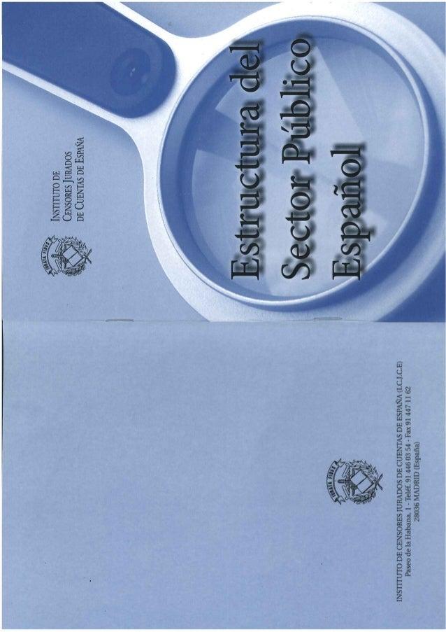 ESTRUCTURA DEL SECTOR PÚBLICO ESPAÑOL