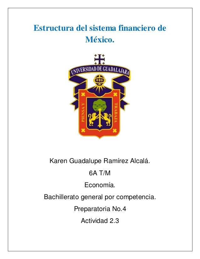 Estructura Sistema Financiero De México
