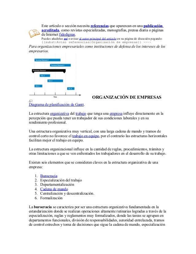 Estructuras Organizativas De La Empresa