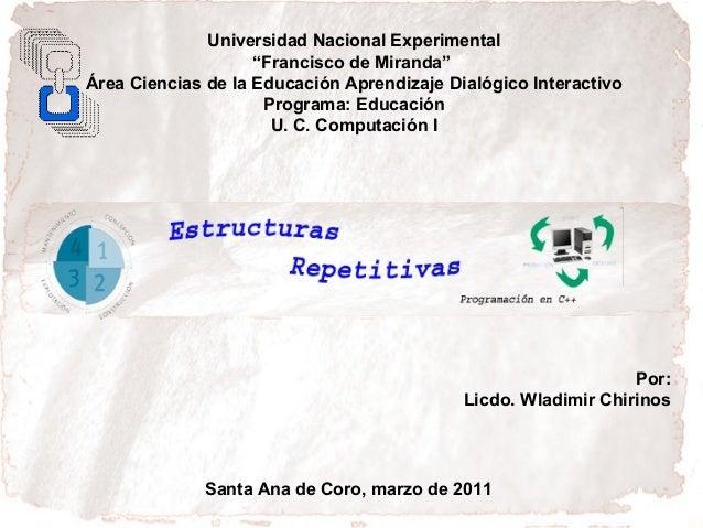 """Universidad Nacional Experimental                    """"Francisco de Miranda""""Área Ciencias de la Educación Aprendizaje Dialó..."""