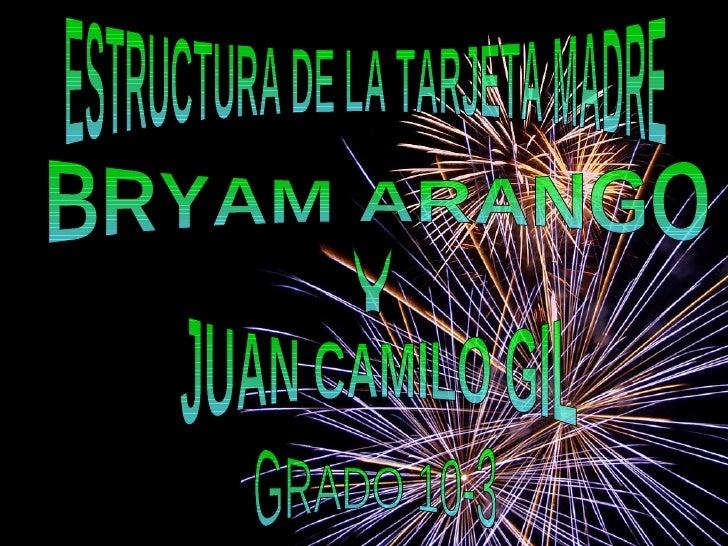 ESTRUCTURA DE LA TARJETA MADRE BRYAM ARANGO Y JUAN CAMILO GIL GRADO 10-3