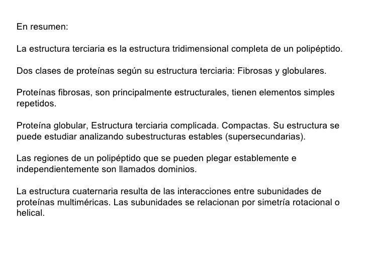 Estructura Tridimensional Proteínas