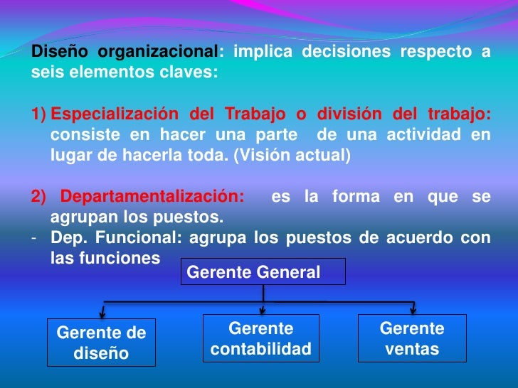 estructura y dise;o organizacional