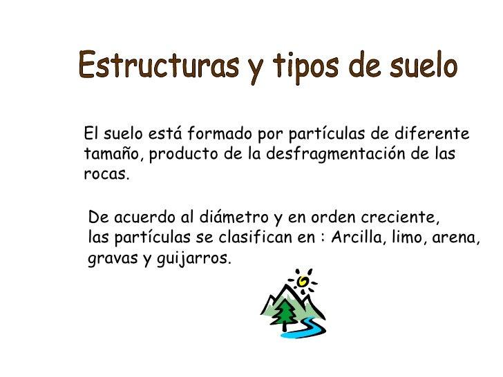 Estructura y tipos de suelos - Tipos de suelos ...
