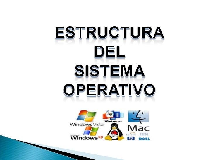 El sistema operativo es un programa o software que sirve de intermediarioentre el computador y el usuario brindando un ent...