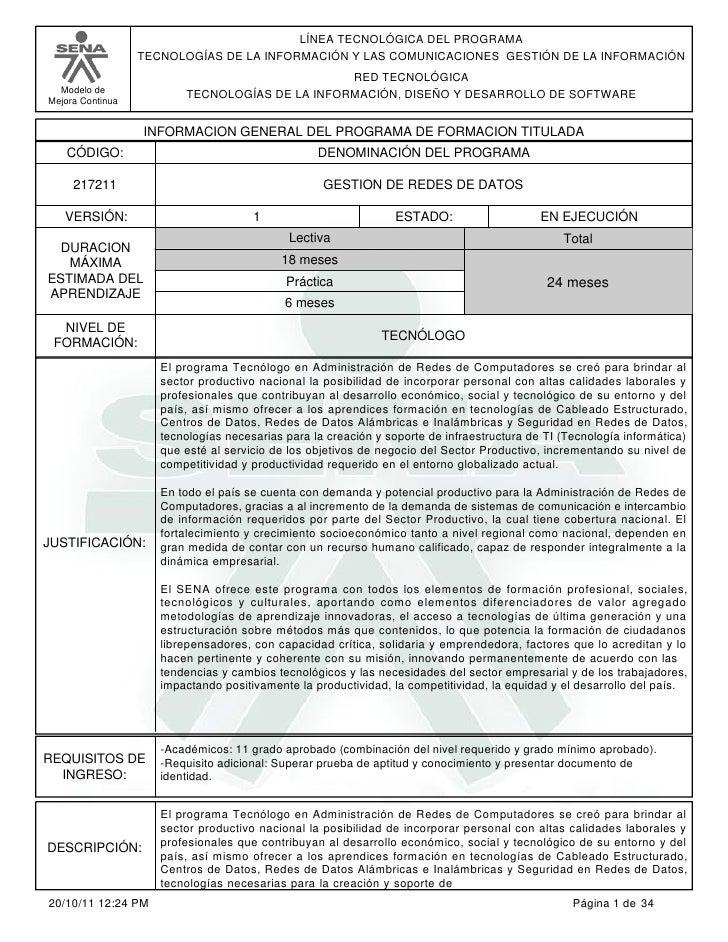 LÍNEA TECNOLÓGICA DEL PROGRAMA                  TECNOLOGÍAS DE LA INFORMACIÓN Y LAS COMUNICACIONES GESTIÓN DE LA INFORMACI...