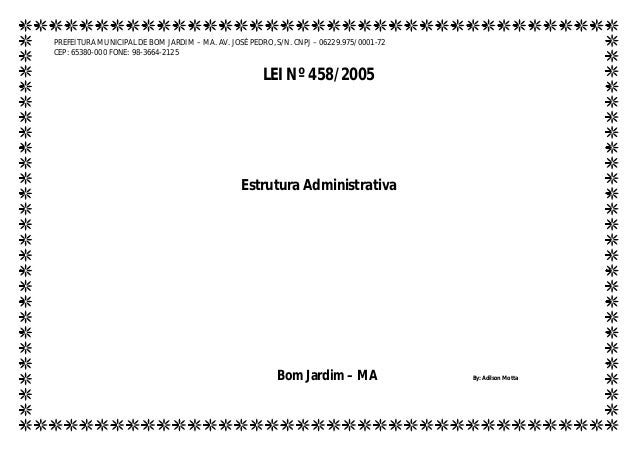 PREFEITURA MUNICIPAL DE BOM JARDIM – MA. AV. JOSÉ PEDRO, S/N. CNPJ – 06229.975/0001-72 CEP: 65380-000 FONE: 98-3664-2125 L...