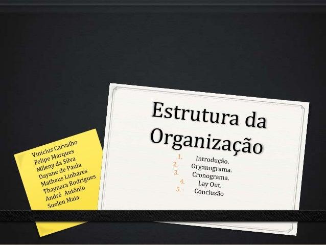 1. Introdução0 Estrutura Organizacional é uma ferramenta básica para alcançar as situações almejadas pela empresa, é o ins...