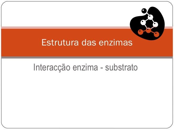 Interacção enzima - substrato Estrutura das enzimas