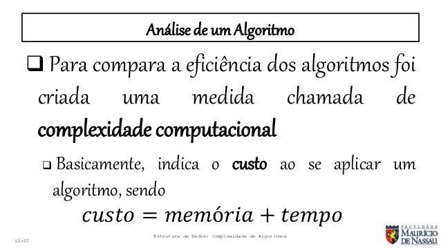 COMPLEXIDADE DE ALGORITMOS PDF DOWNLOAD