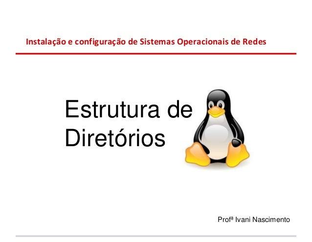 Instalação e configuração de Sistemas Operacionais de Redes         Estrutura de         Diretórios                       ...