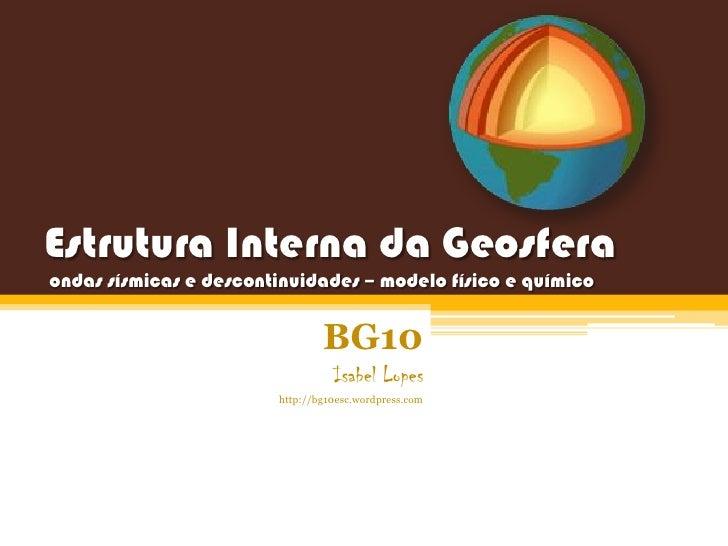 Estrutura interna da geosfera