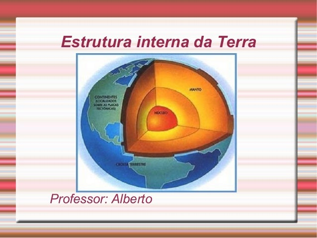 Estrutura interna da Terra Professor: Alberto