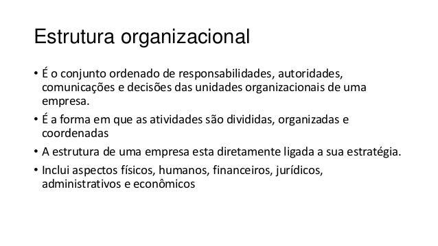 Estrutura Organizacional - Conceito e Tipos Slide 2