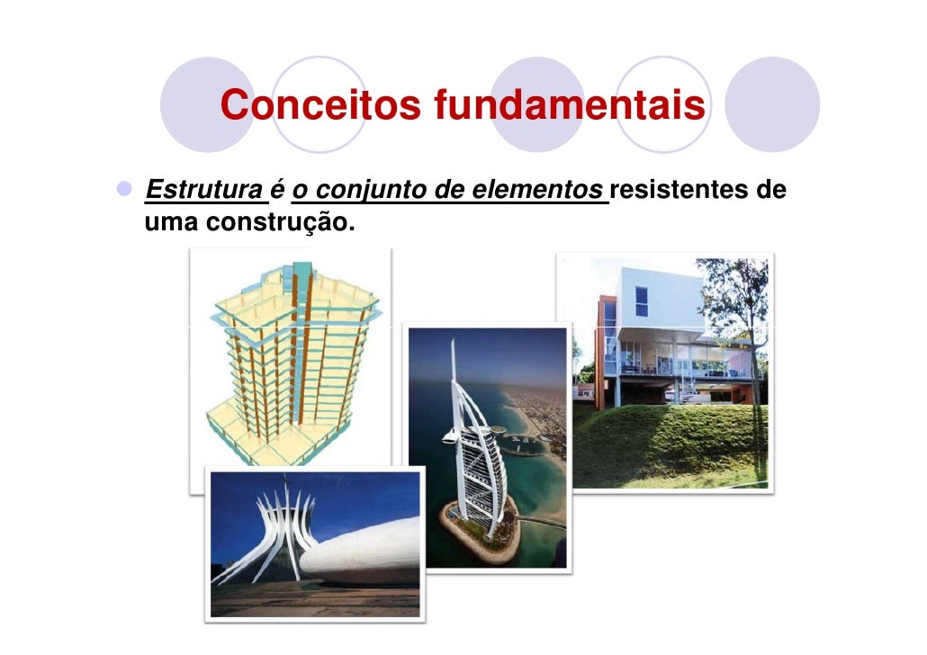 Conceitos fundamentaisEstrutura é o conjunto de elementos resistentes deuma construção.