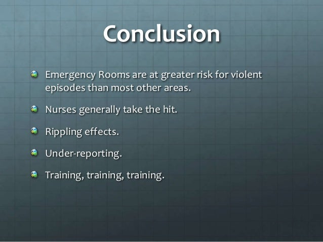 The consequences of violence against nurses working in the ...